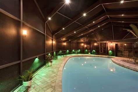 pool enclosure lighting pool cage lighting lighting ideas