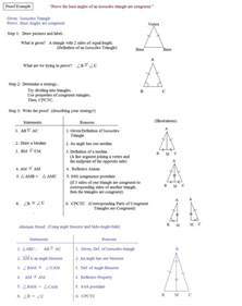 Congruent Triangle Proofs Worksheet with Answers