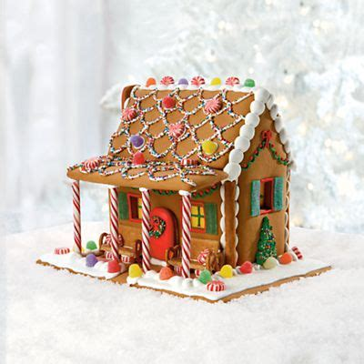 simple gingerbread house designs gingerbread house ideas gingerbread house with a candy cane porch xmas crafts pinterest