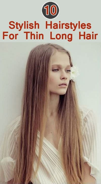 long thin hair hairstyle  women man