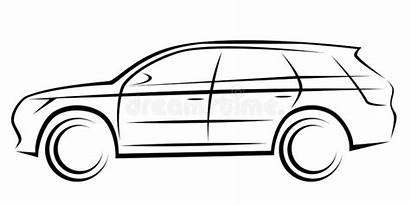 Suv Silhouette Illustration Sports Background Dynamic Related