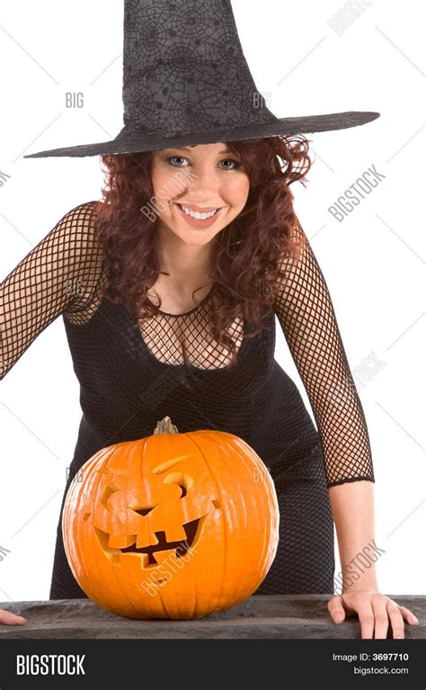 teen girl halloween hat carved image and photo bigstock