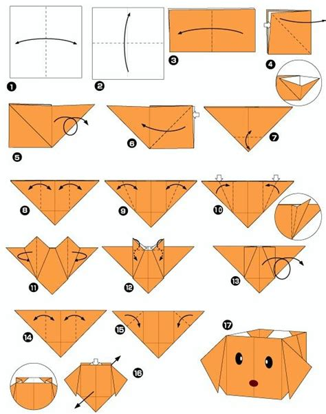 boite tete de chien en origami projet chienenfants