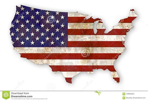 American Flag Grunge Country Usa Stock Illustration