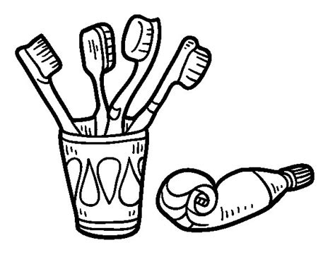 Toothbrush And Toothpaste Coloring Page Toothbrushes And Toothpaste Coloring Page Coloringcrew