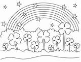Clover Coloring Leaf Pages Four Maple Syrup Field Rainbow Printable Sheet Getcolorings Stars Toddlers Astounding Patrick Uploaded sketch template