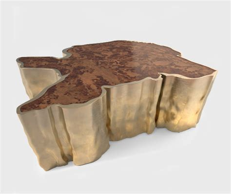 gold and wood coffee table an amazing coffee table by brabbu decoholic