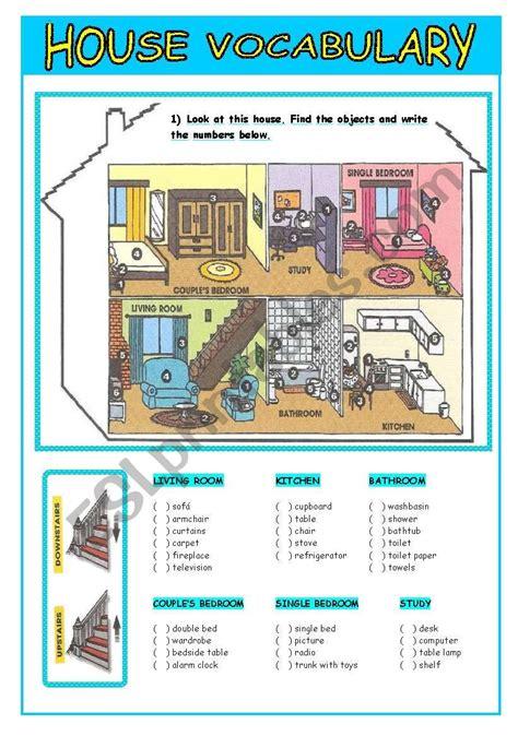 house vocabulary esl worksheet  leofrancisco