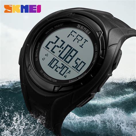 Pedometer Olahraga skmei jam tangan olahraga pedometer 3d 1315 black