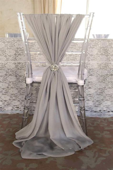 popular fashion wedding chair sashes choose color