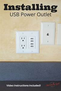 Installing Usb Power Outlet Wall Charger  Easy