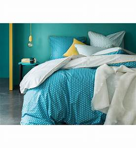 Housse Couette Bleu Canard : housses de couettes blanc cerise maison galeries lafayette ~ Teatrodelosmanantiales.com Idées de Décoration