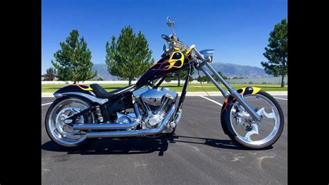2005 Big Dog Chopper Custom Softail Motorcycle Black With