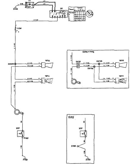 volvo 850 1995 wiring diagrams horn carknowledge