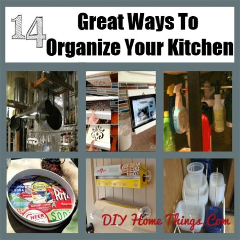 14 Great Ways To Organize Your Kitchen  Diy Home Things