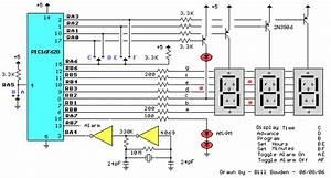 Pic Digital Clock Timer - Control Circuit