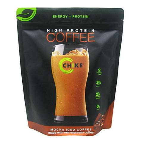 I followed the directions, and added the mix, water and one packet (36 g) of chike high protein iced coffee contains the same amount as a cup of coffee. CHIKE HIGH PROTEIN COFFEE 14 SERVINGS - Mocha, $28.99 | Protein coffee, High protein, Protein