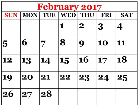 calendar 2017 template february february 2017 calendar template calendar and images