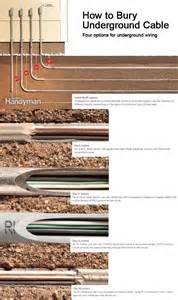 How To Bury Underground Cable  With Images