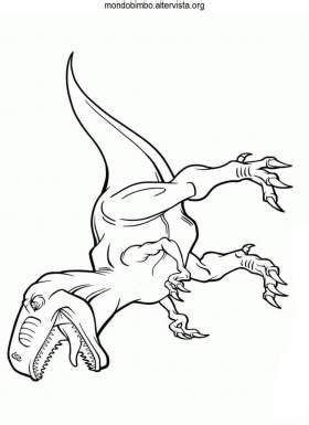 dinosauro il velociraptor da colorare mondo bimbo