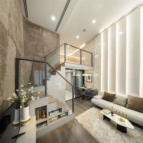 luxurious compact modern condo apartment  double