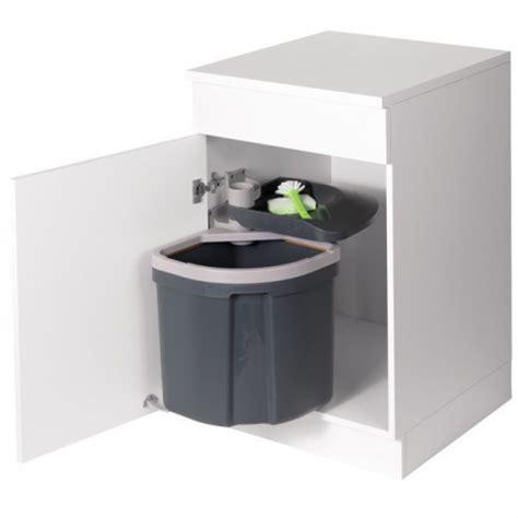 poubelle cuisine de porte poubelle flexx 1 bac 35l gris
