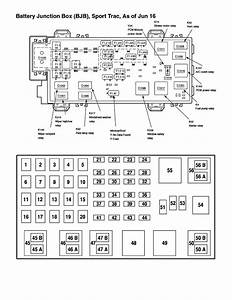 2001 Explorer Fuse Panel Diagram