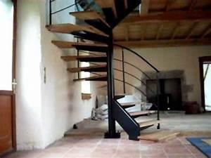 Escalier En Colimaçon : fabrication d 39 un escalier m tal et bois h lico dal ou ~ Mglfilm.com Idées de Décoration