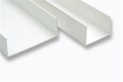 pvc u profil u profile symetric 40mm 1 5mm thicknesscolour standard