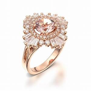 Vintage Engagement Ring 18K Rose Gold Diamonds And ...
