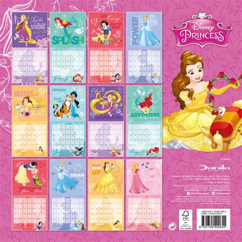 disney princess calendarios