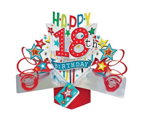 Birthday Pop Up Greeting Card happy 18th birthday pop up greeting card cards