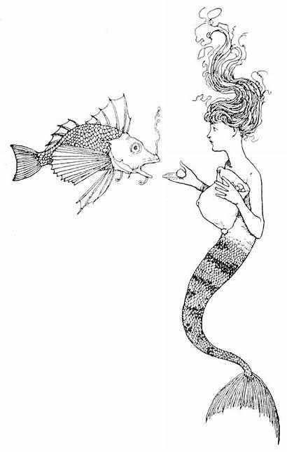 Mermaid Fairy Robinson Andersen Skit Tales Drowing