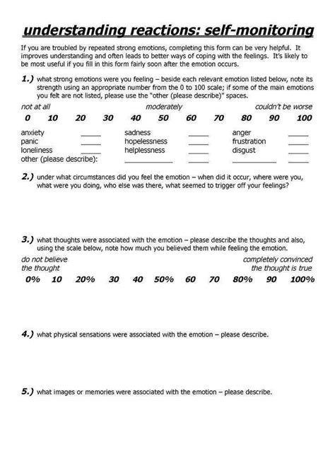 Ptsd Worksheets Homeschooldressagecom