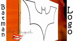 How to draw Batman Logo STEP BY STEP EASY, draw easy stuff ...