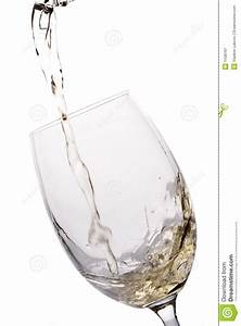 White Wine Poured Into A Glass Stock Image - Image: 1438761