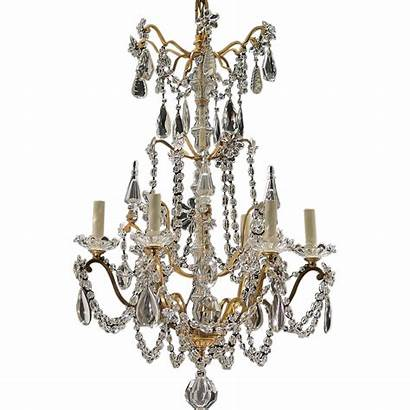 Brass Antique French Chandelier Crystal Gilt Tolw