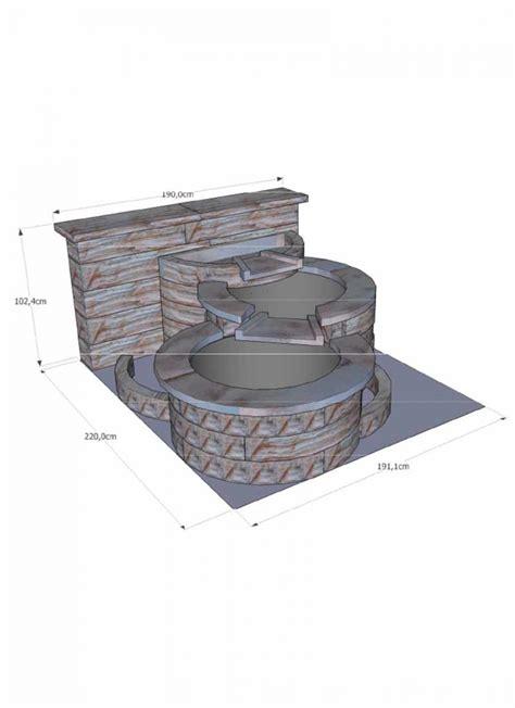 cuisine d été en reconstituée fontaine niagara en reconstituée avec 3 bassins