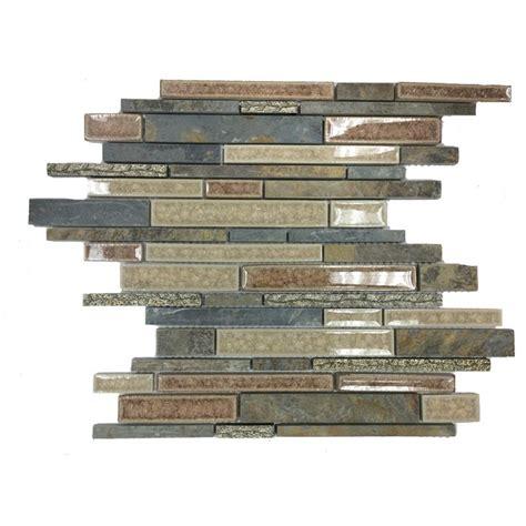 shop 11 3 4 quot x11 quot shangri la slate random brick polished