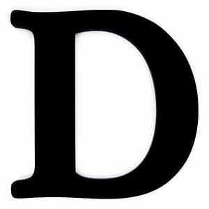 """Black Wood Letter D - 12"""" Hobby Lobby 190322"""