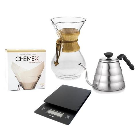 chemex pour coffee complete accessories maker bundle kettle hario scale filters cup equipment capecoffeebeans za brew square