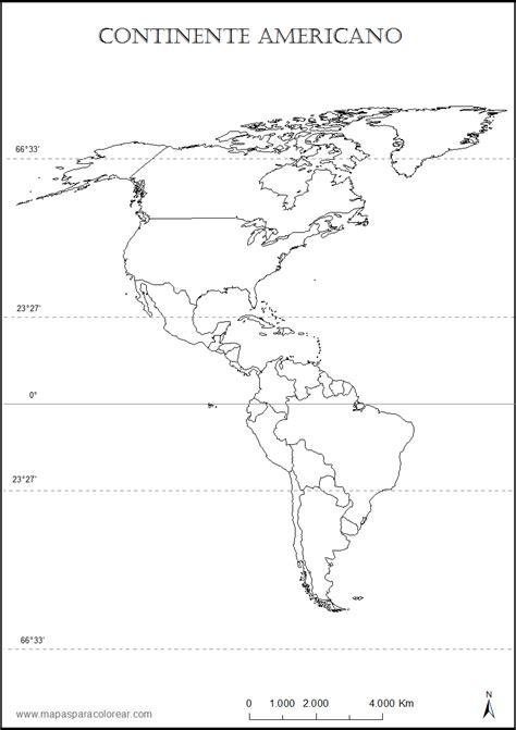 Continente Americano Para Colorir