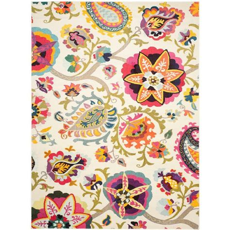safavieh collection safavieh monaco collection mnc229a ivory and multicolored