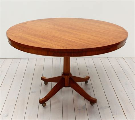 Danish Teak Round Pedestal Dining Table Arc