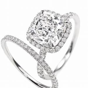 Harry Winston cushion cut; 3 carat diamond engagement ring ...