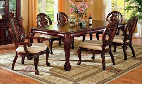 comedor formal de madera 7 piezas por coaster 7piece