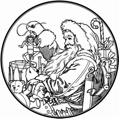 Coloring Santa Claus Pages Christmas Adults Fashioned