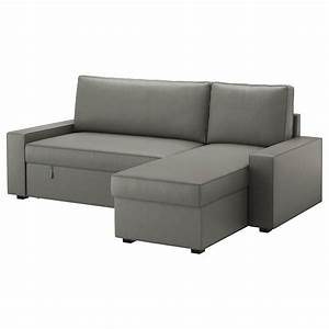 Sofa Füße Ikea : vilasund sofa bed with chaise longue borred grey green ikea ~ Sanjose-hotels-ca.com Haus und Dekorationen