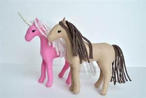PdF Felt Horse Pattern Waldorf Felt Animal Pattern Stuffed