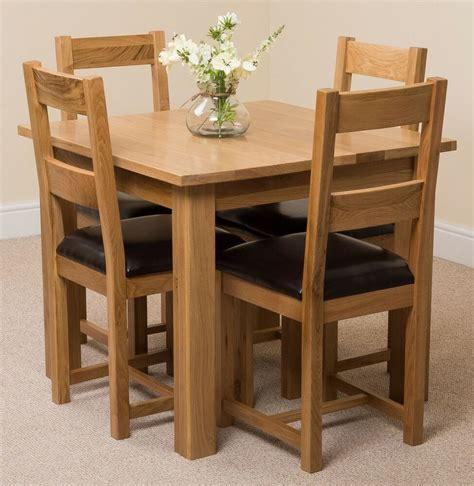 oslo cm square kitchen solid oak dining table
